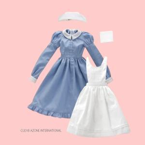 50 クラシカルナースset(ホワイト×サックス) [アゾン 50cm人形用洋服]|acodolls