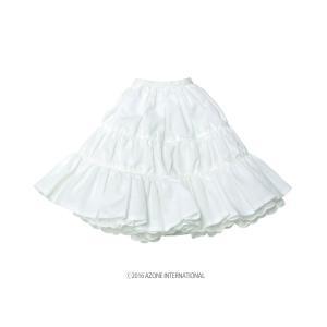 50 ナチュラルガーリー♪ティアードスカート(オフホワイト) [アゾン 50cm人形用洋服]|acodolls