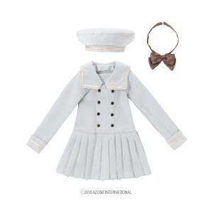 50 セーラーカラーワンピース(サックス) [アゾン 50cm人形用洋服]|acodolls