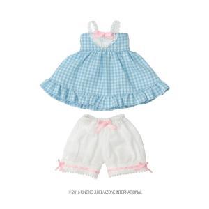 きのこプラネット ギンガム☆ベビードールset(ソーダ) [アゾン 人形用洋服]|acodolls