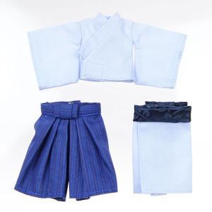 11cmボディ用 袴・着物上下セット(紺) [オビツ 人形用洋服]|acodolls