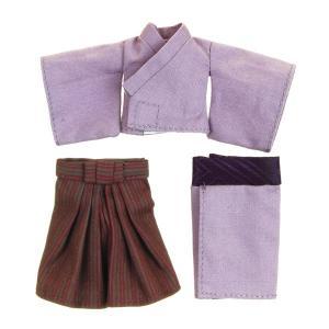 11cmボディ用 袴・着物上下セット(紫) [オビツ 人形用洋服]|acodolls