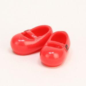 11cmボディ用 おでこ靴 マグネット付き(赤) [オビツ 人形用靴]|acodolls