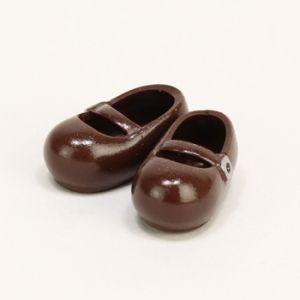 11cmボディ用 おでこ靴 マグネット付き(茶) [オビツ 人形用靴]|acodolls