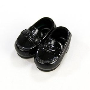11cmボディ用 ローファー マグネット付き(黒) [オビツ 人形用靴]|acodolls
