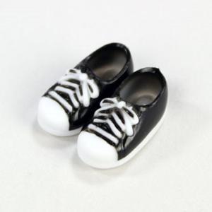 11cmボディ用 スニーカー マグネット付き(ブラック) [オビツ 人形用靴]|acodolls