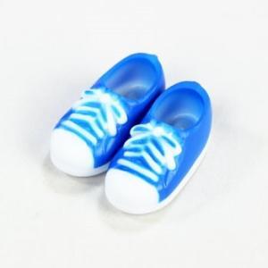 11cmボディ用 スニーカー マグネット付き(ブルー) [オビツ 人形用靴]|acodolls