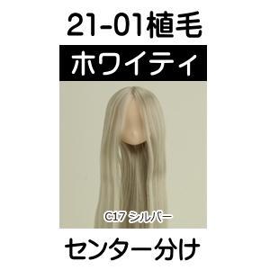21-01植毛ヘッド(肌 ホワイティ/髪 シルバー) [21cm オビツヘッド]|acodolls
