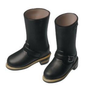 1/6ドール エンジニアブーツ(ブラック) [オビツ 人形用靴]|acodolls