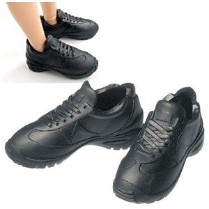 27cm オビツボディ 男性用 スニーカー(黒) [オビツ 人形用靴]|acodolls