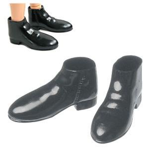 27cm オビツボディ 男性用 セミブーツ(黒) [オビツ 人形用靴]|acodolls