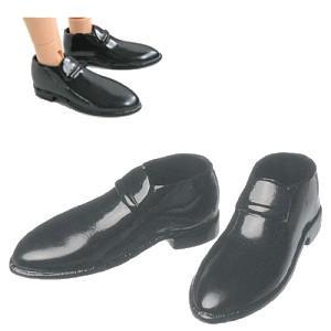 27cm オビツボディ 男性用 革靴(黒) [オビツ 人形用靴]|acodolls