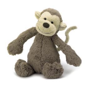 Jellycat ジェリーキャット バシュフル 猿 さる サル ぬいぐるみ Mサイズ 動物 人形 おもちゃ 海外 セレブ グッズ 出産祝い 赤ちゃん 幼児 プレゼント|acomes