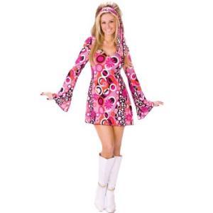 4d73063152d0c ディスコ ダンス ダンサー 衣装 70年代 レトロ ペイズリー柄 ピンク ワンピース 大人 女性 コスプレ 仮装