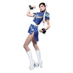 ストリートファイター チュン 大人用コスプレ衣装 ハロウィン コスチューム acomes