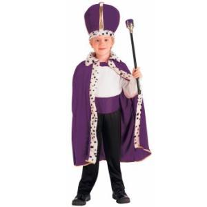 コスチューム 王子様 王様 衣装 ローブ 王冠 セット 子ども用 コスプレ グッズ マント クラウン ステッキ 王子服|acomes
