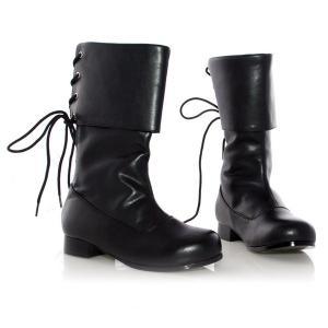 パイレーツ ブーツ 海賊 靴 黒 ブラック 子ども用 コスプレグッズ ハロウィン PLEASER(プリーザー)社製|acomes