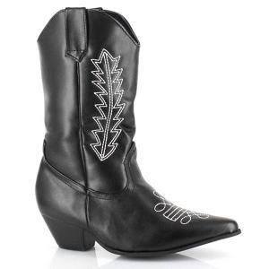 新生活 衣装 ウエスタン ロデオ ブーツ 黒 カウガール 子供用コスプレコスチューム ハロウィン|acomes