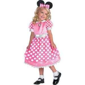 ミニーマウスのピンクの衣装。TV番組「ミッキーマウスクラブハウス」でミニーちゃんが着ている、可愛いド...
