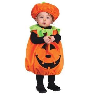 衣装 ベビー かぼちゃ 赤ちゃん 着ぐるみ パンプキンコスチューム|acomes