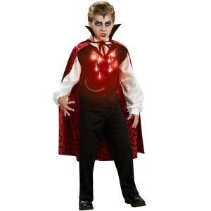 コスプレ 子供 衣装 男の子 人気 吸血鬼 コスチューム ハロウィン ヴァンパイア ドラキュラ バンパイア 光る 子ども用|acomes