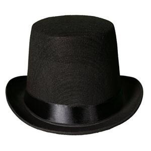 メンズ 黒 帽子 ハロウィン 雑貨 グッズ 黒のフェルトのトップハット シルクハット 仮装|acomes