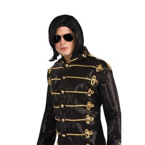 マイケルジャクソン 衣装 サングラス かつら サングラスとウィッグのセット ロング ストレート
