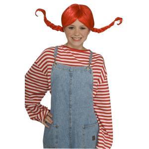 キッズ ピッピ ウィッグ 大人 子供用 ラグドール 赤毛 かつら 仮装 コスプレ ハロウィン acomes