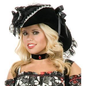 グッズ アクセサリー レースの海賊帽子 大人用ハロウィン 雑貨 acomes