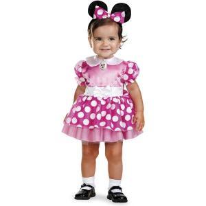 赤ちゃん ディズニー コスチューム ミニーマウス 衣装 ピンク ドレス 子供 コスプレ ミニーちゃん 幼児 ベビー|acomes
