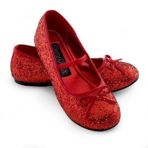 雑貨 グッズ スパークル バレリーナ 靴(赤)子供用ハロウィン|acomes