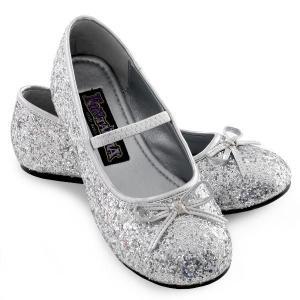 新生活 ハロウィン 雑貨 グッズ スパークル バレリーナ 靴(シルバー)子供用ハロウィン|acomes