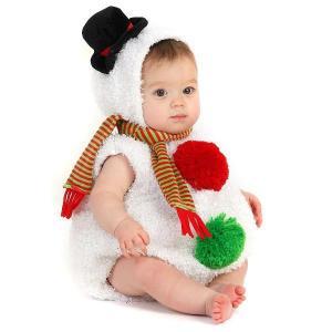 クリスマス ベビー 服 赤ちゃん 着ぐるみ 幼児 コスプレ コスチューム 雪だるま 衣装|acomes