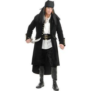 パイレーツ・オブ・カリビアン 生命の泉 海賊 衣装 船 旗 トレジャー アイランド コート 大人|acomes
