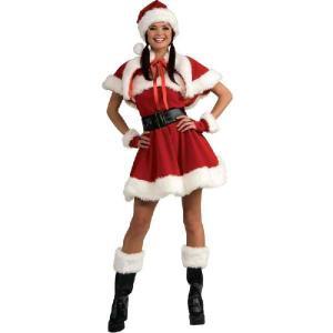 サンタクロース レディース コスチューム クリスマス コスプレ 仮装 Miss Santa ベルベット|acomes