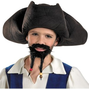パイレーツ・オブ・カリビアン コスチューム 子供用 帽子 ジャック・スパロウ コスプレ 海賊 ハット 仮装 被り物 かぶりもの グッズ|acomes