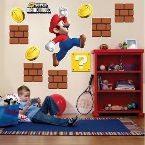スーパーマリオ グッズ ウォールステッカー 子供部屋 スーパーマリオ インテリア デコレーション グッズ 特大 テレビゲーム|acomes