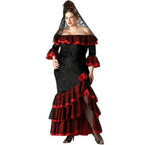 パーティー ドレス 大きいサイズ フラメンコ 衣装 ハロウィン セニョリータ ダンサー 大人用 acomes