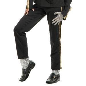 マイケルジャクソン 衣装 コスチューム コスプレ ウルフ スリラー キラキラしたシルバー手袋(片手の...