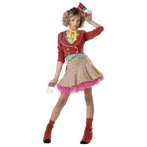 ハロウィン ディズニー コスプレ 子供 不思議の国のアリス マッドハッター 仮装 衣装 コスチューム ティーン用|acomes