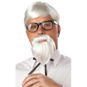 付け髭/仮装 ケンタッキー カーネル・サンダース かつらと付け髭のセット。ケンタッキーフライドチキン...