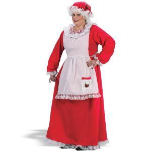 ハロウィン サンタクロース 衣装 ミセスクロース 大きいサイズ 大人用コスチューム クリスマス|acomes
