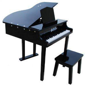 幼児用 おもちゃ ピアノ 子供用楽器 コンサート グランドピアノ,黒|acomes