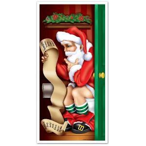 クリスマス飾り トイレのサンタさん,ドアカバー ツリー ケーキ イルミネーション acomes