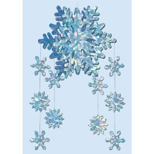 クリスマス デコレーション 飾り雪の結晶モービル acomes