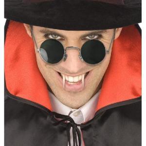 吸血鬼 ドラキュラ サングラス メンズ/グッズ バンパイア 仮装 衣装 用丸いサングラス 大人用|acomes