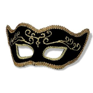 ベネチアン マスク 仮装 コスプレ ヴェネチアン ベネチアン マスク(黒) ハロウィン コスチューム|acomes
