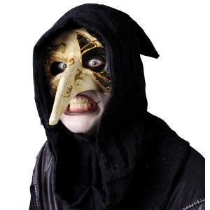 仮装 マスク コスプレ ヴェネチアン 鼻の長い白黒マスク 大人用 ハロウィン コスチューム|acomes