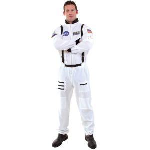 宇宙飛行士 コスチューム コスプレ 衣装 制服 宇宙服 大人 男性 仮装 スーツ 白 NASA|acomes