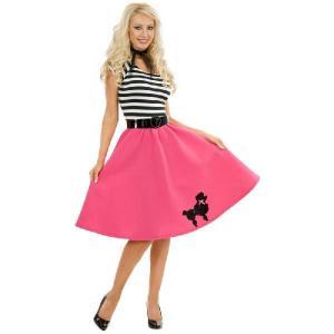 ハロウィン 50年代 レトロ オールディーズ ディスコ ダンス 衣装 大人 女性 コスプレ コスチューム プードル 大きいサイズあり|acomes